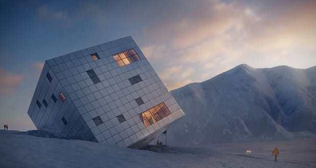 Minimál stílusú családi házak külső és belső képei