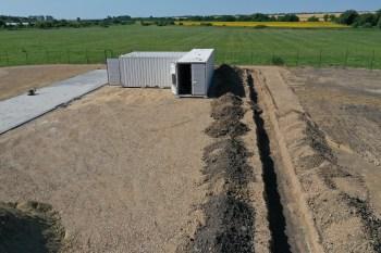 Polisztirol üzem közmű vezeték építése