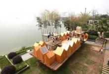 Photo of A végtelenbe és tovább: a gyermekek által épített lebegő bambuszváros