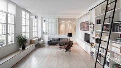 Photo of Egyszerű, de elegáns: kis, tárolóban gazdag párizsi apartman