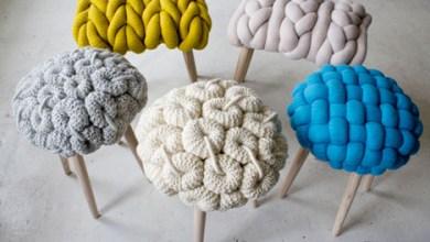 Photo of Textiltervezői kötött gyapjú székek