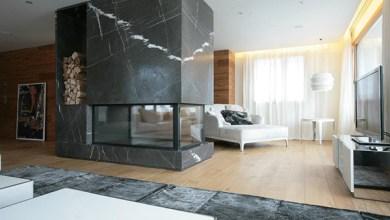 Photo of Szoba elválasztó kandalló – márvány dizájn Carlo Colombo-tól