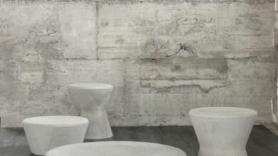 Photo of Swisspearl: dizájner bútordarabok szálas cementből