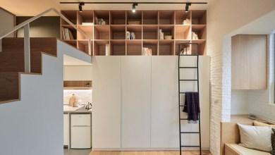 Photo of 22 négyzetméteres otthonos tajvani apartman, alaprajzzal