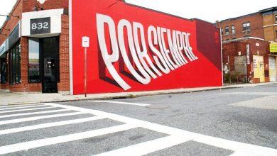 Photo of Ben Johnston csalóka tipográfiai művészete szinte lefordul a falakról