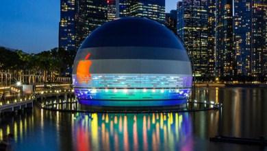 """Photo of A Foster + Partners napvilágra hozta a szingapúri """"lebegő"""" gömb alakú Apple üzlet terveit"""
