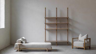 Photo of Nathalie Deboel minimalista bútorkollekciója egyszerű fa-ruda felhasználásával
