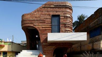 Photo of A bengáli templomok  organikus formái és mintái ihlették az indiai otthont