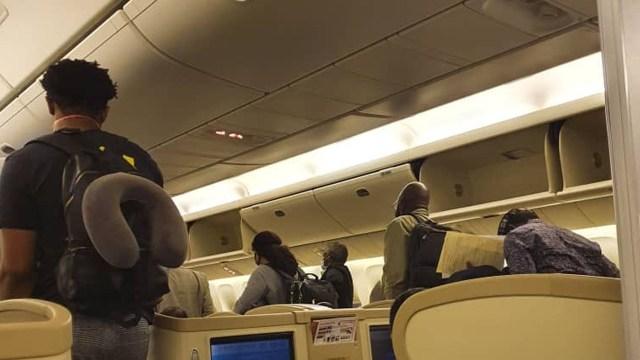 172 Nigerians evacuated from Uganda and Kenya arrive Abuja.