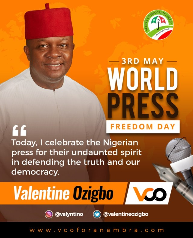 World Press Day: Val Ozigbo  Advocates Total  Press Freedom, Better Investment  In Media