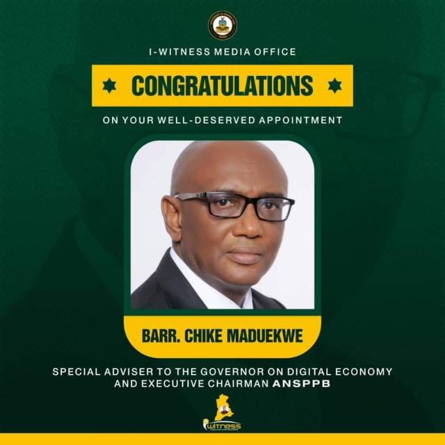 Gov. Obiano Appoints Chike Maduekwe Special Adviser On  Digital Economy