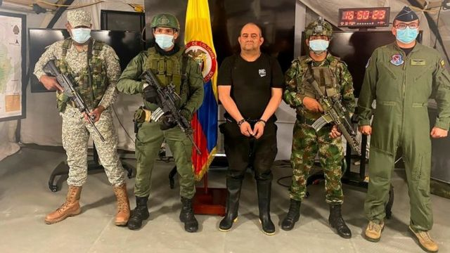 Colombia's Narcotics Business Dealt Big Blow as its Most-wanted Drug Lord, Otoniel is Captured