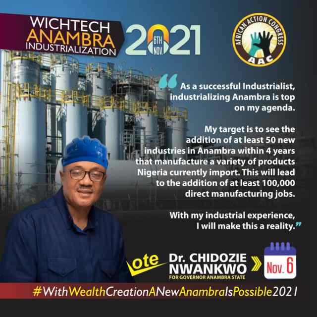 DR. CHIDOZIE NWANKWO WILL UNLOCK THE AGRO POTENTIALS IN ANAMBRA STATE.
