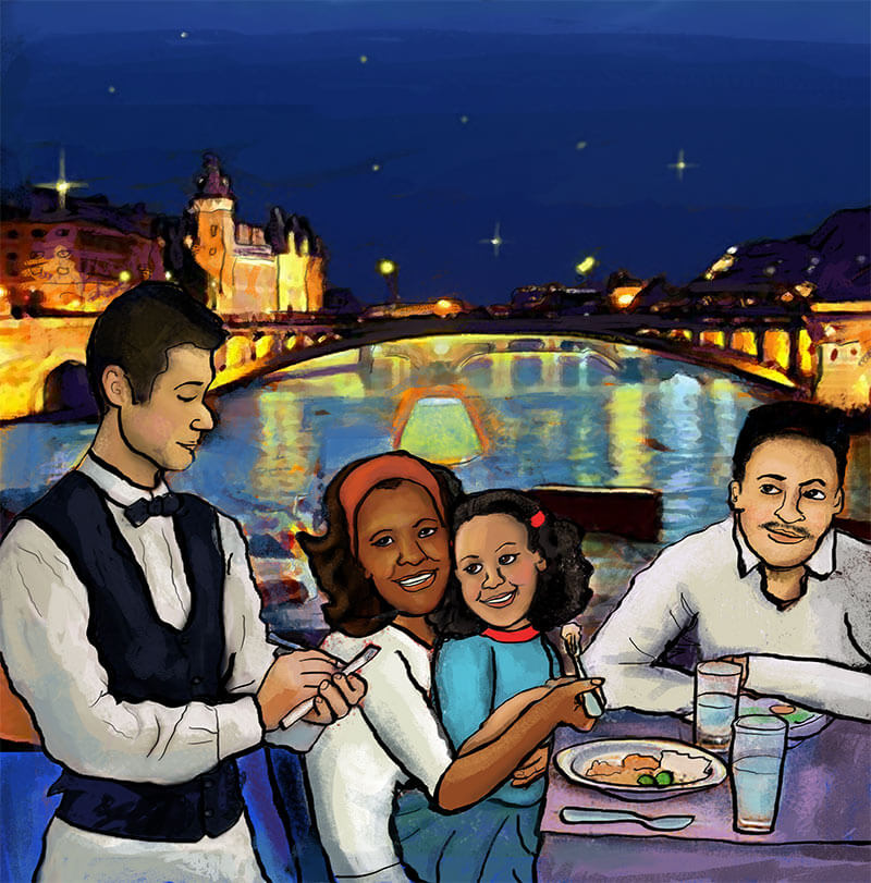 Illustration from Lori leak Travels to Paris