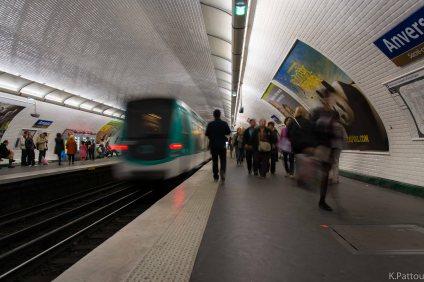 The subway of Paris.