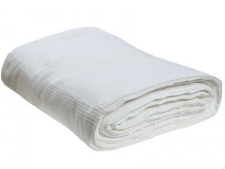 Ткань вафельное полотно техническое отбеленное 45 см 140 гр