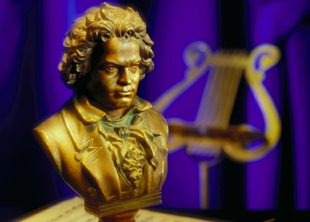 "Bust of Beethoven, whose ""Moonlight"" Sonata, Symphony No. 5 in C Minor and ""Ode to Joy"" from Symphony No. 9 are featured in ""Classical Rewind"" (MY MUSIC)."