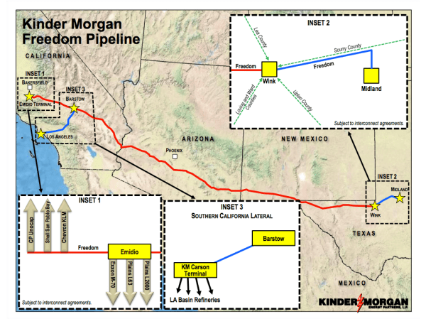 Kinder Morgan Shelves Texas-California Pipeline | KPBS