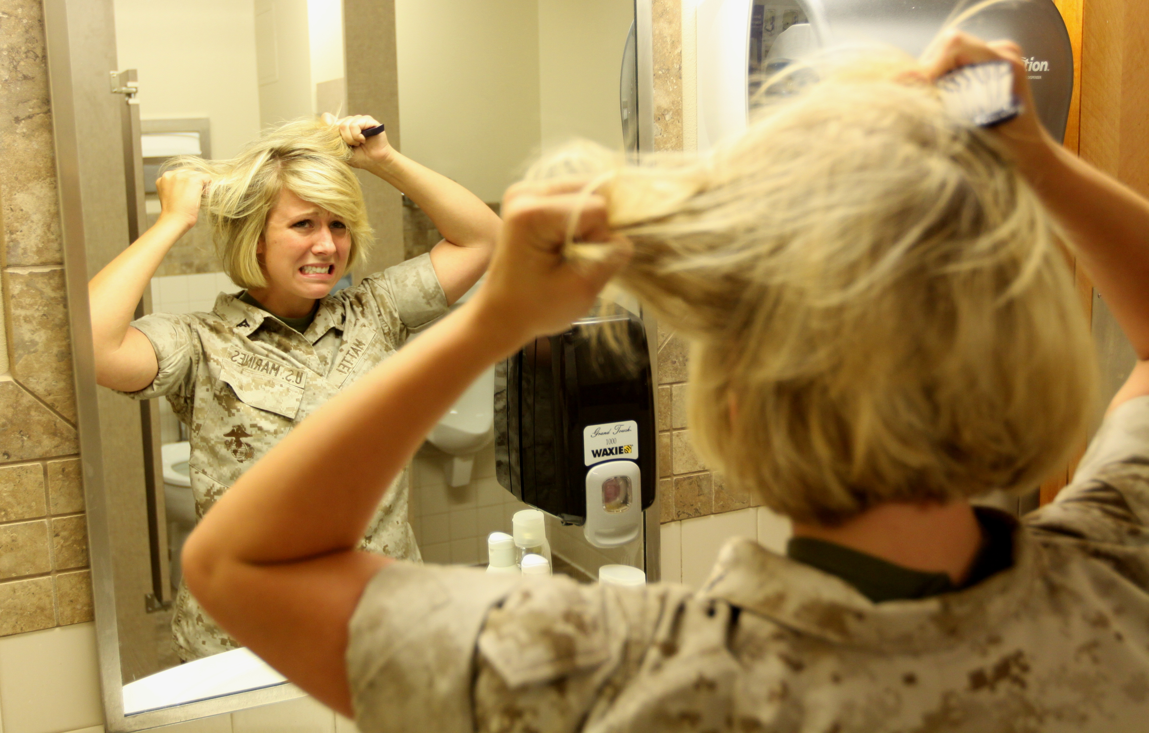 Hair Today Gone Tomorrow Marine Corps Sets New Female