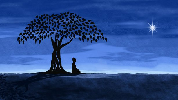 Budha Meditating Under Bodhi Tree