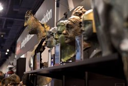 A series of 3D printed busts Wenman made and displayed at the recent Consumer Electronics Show in Las Vegas.