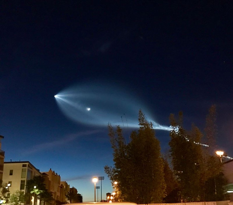 SpaceX Rocket Launch Seen Over San Diego County | KPBS