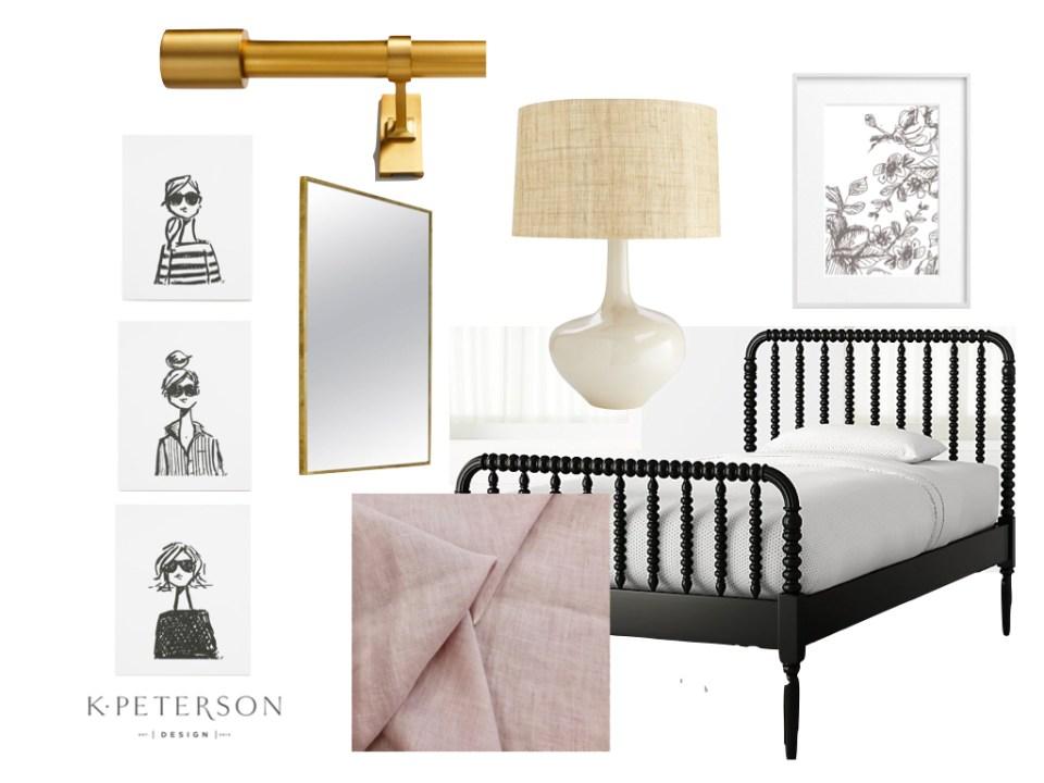 Design board little girls room