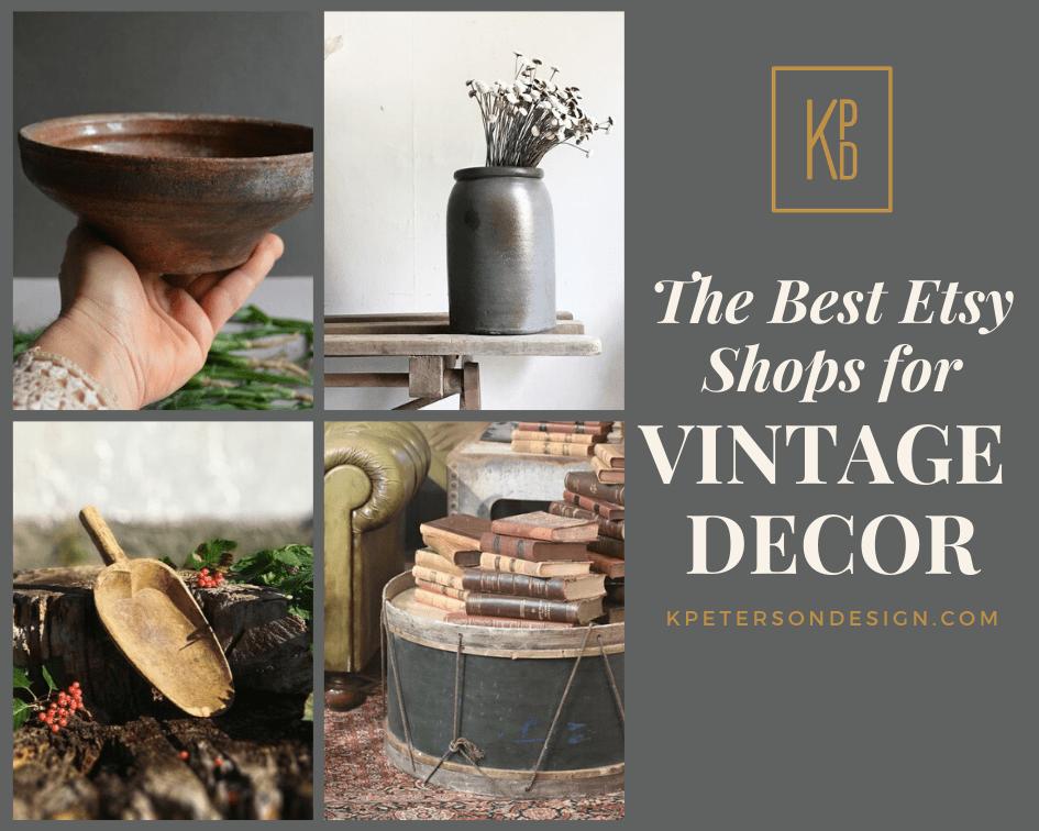Etsy shops for home decor vintage