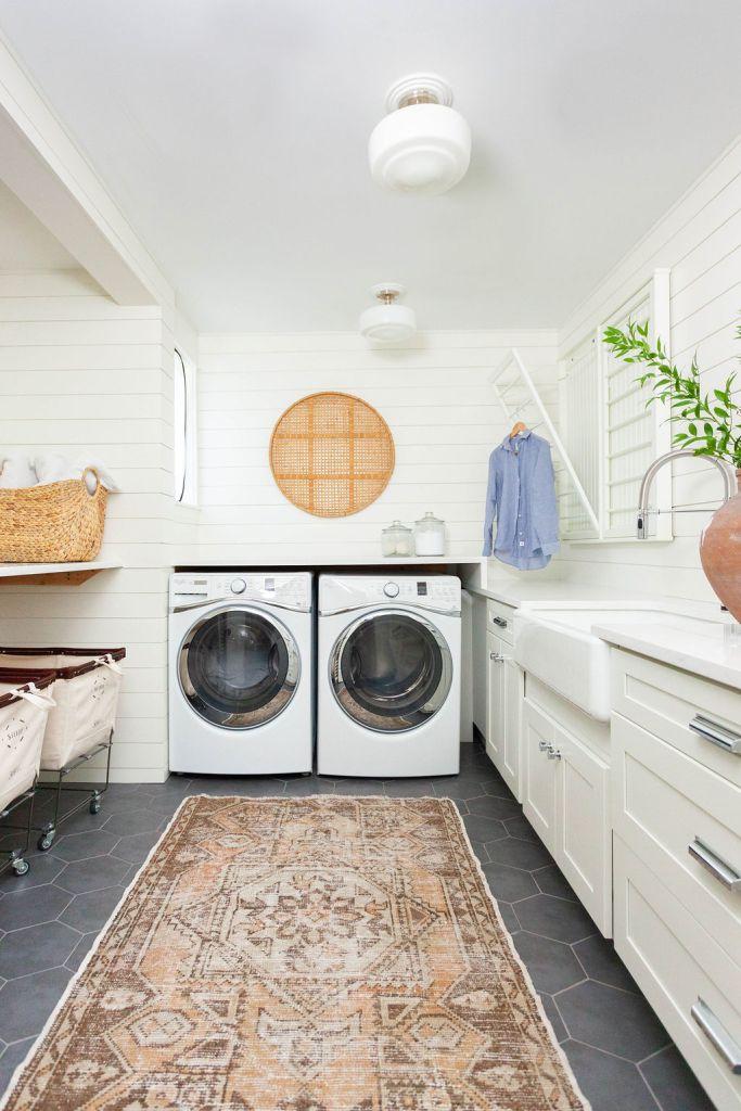 vintage rug laundry room