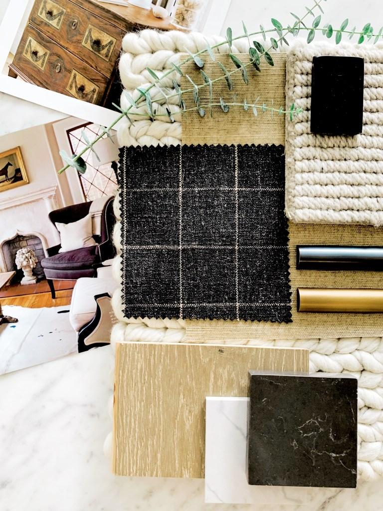 neutral mood board interior design