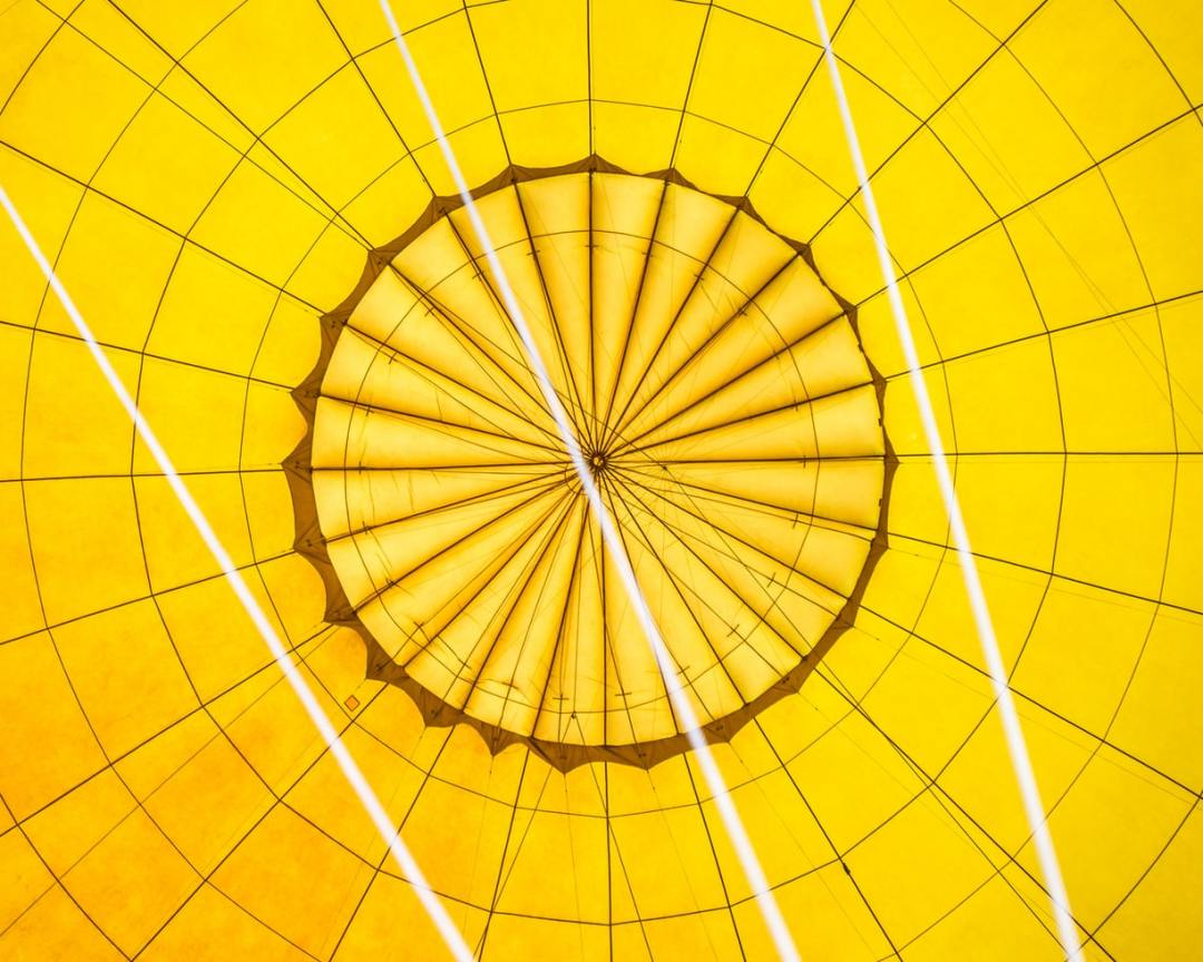 yellow dome from inside