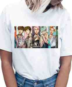 T-Shirt BTS dessin Kpop