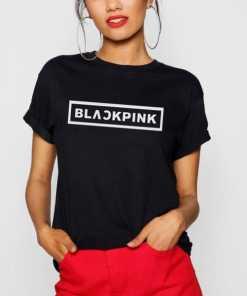 T-shirt Blackpink Logo Blanc