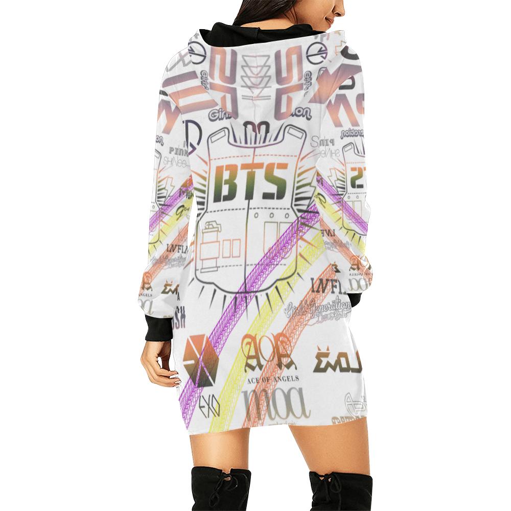 BTS Print Women's Hoodie Mini Dress