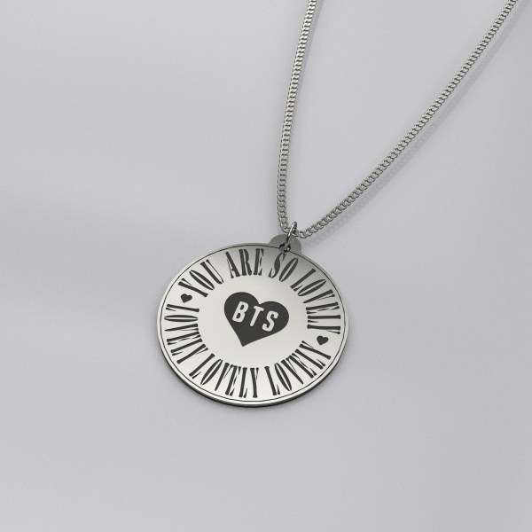 BTS You Are So Lovely Engraved Necklace