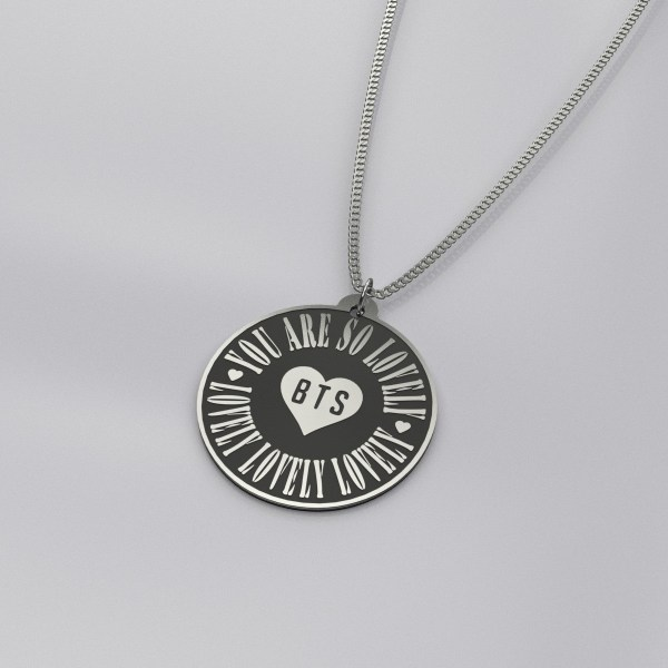 BTS You Are So Lovely Engraved Charm Necklace