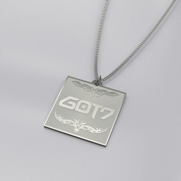 GOT7 Logo Engraved Charm Necklace