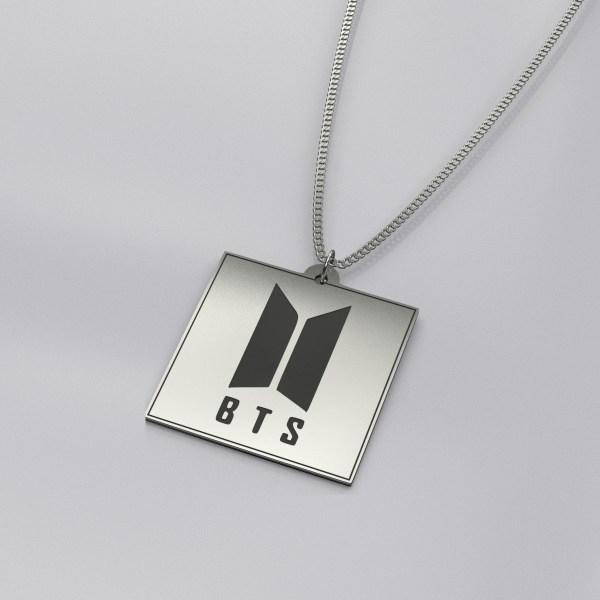 BTS Logo Engraved Stylish Necklace