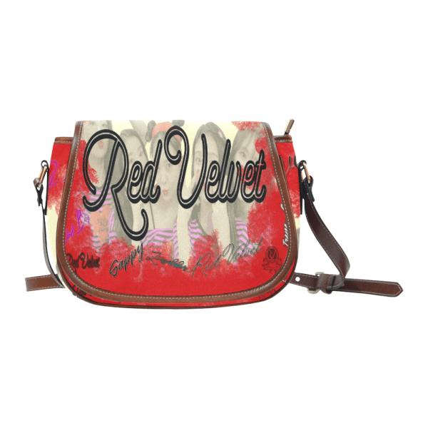 Red Velvet Saddle Bag
