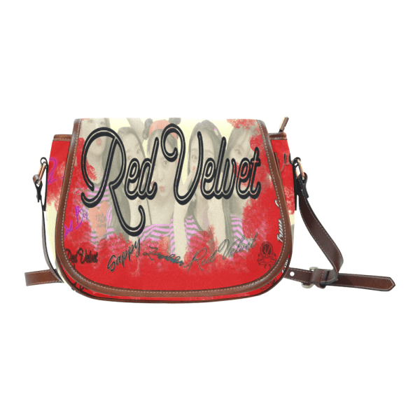 Red Velvet Saddle Bag