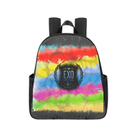 EXO Logo Colorful School Bag