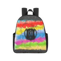 EXO Logo Colorful School Bag