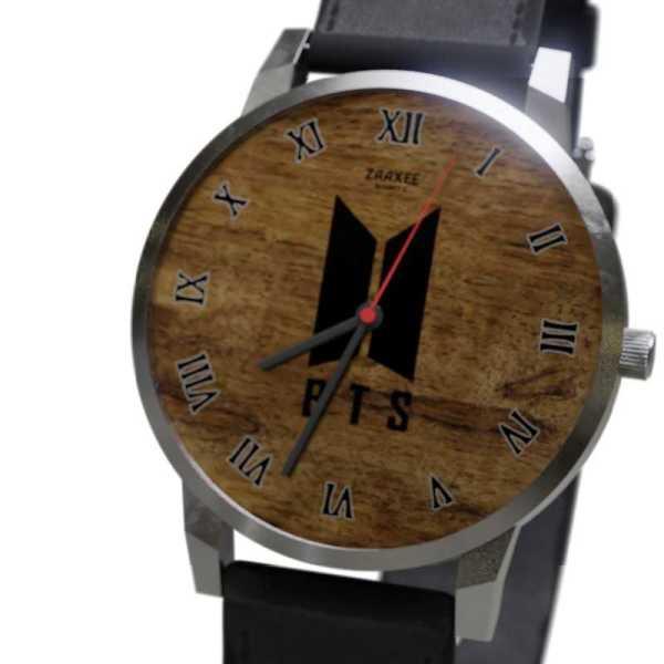BTS Logo Mahogany Quartz Watch