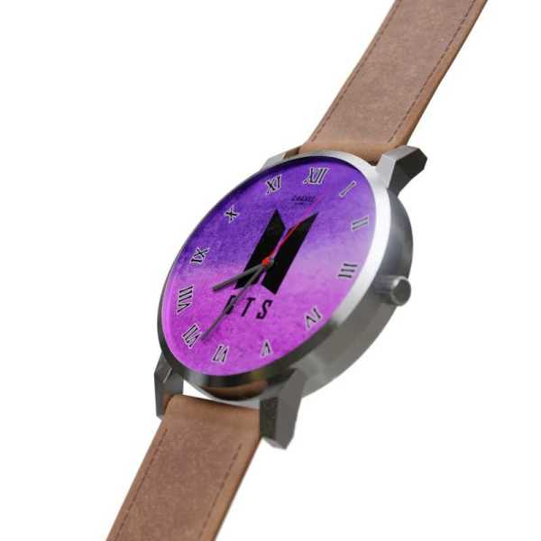 BTS Logo Purple Quartz Watch