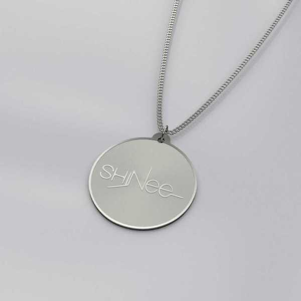 Engraved Shinee Logo Charm Necklace