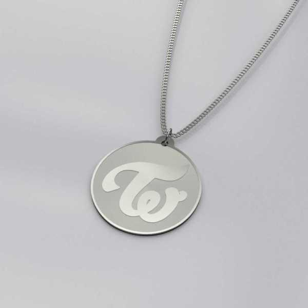 Beautiful Twice Logo Charm Necklace
