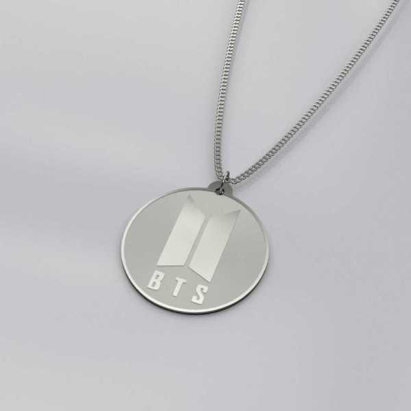BTS Logo Charm Necklace