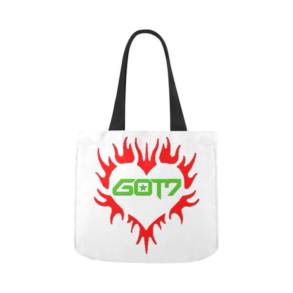 GOT7 Heart Logo Canvas Tote Bag