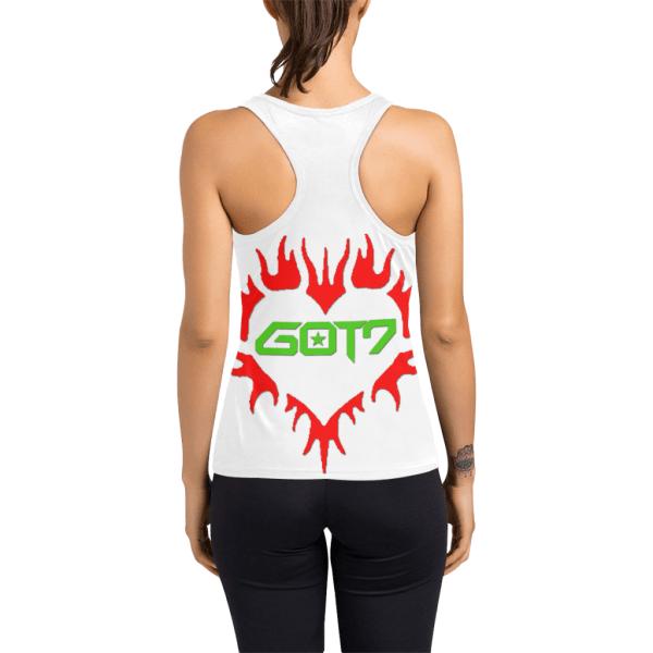 GOT7 Heart Logo Racerback Tank Top