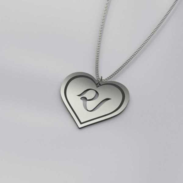 Red Velvet Heart Charm Necklace